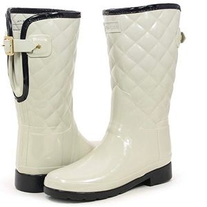 Hunter Original refined gloss quilted rain boots